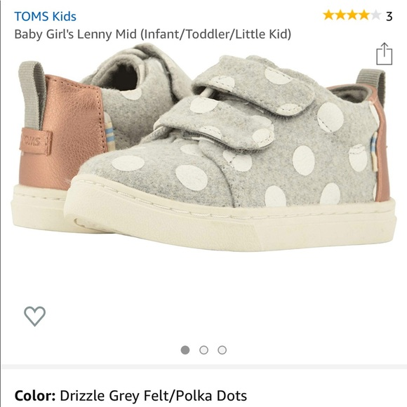Toms Shoes   Toms Lenny Girls Velcro